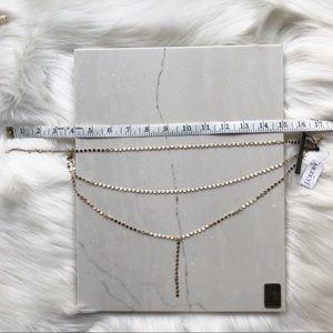J. Crew Jewelry - J. Crew 3 Tier Gold Flash Necklace